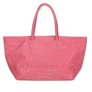 Barely used authentic ostrich pink handbag
